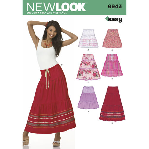 New Look Pattern 6943 Misses Skirts
