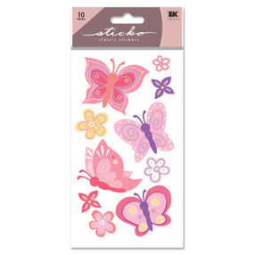 Pretty Butterfly Glitter Classic Stickers_SPLFB08