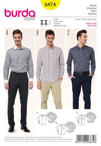 Burda Style Pattern 6874 Mens Wear, Sports Wear