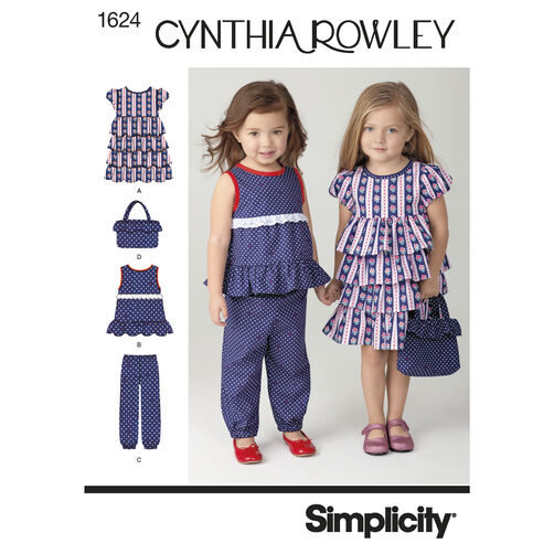 Simplicity Pattern 1624 Toddlers' Sportswear Cynthia Rowley Collection