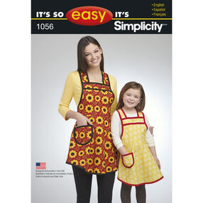 It's So Easy Pattern 1056 Mother Daughter Aprons