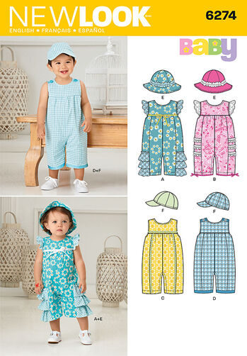 Babies' Romper and Hats