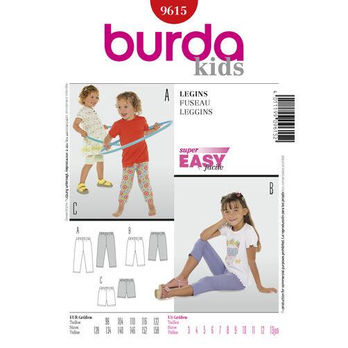 Burda Style Pattern 9615 Leggings