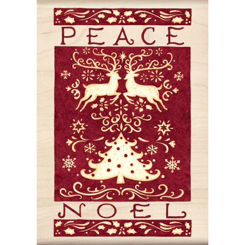 Peace Noel Wood Stamp _60-00857