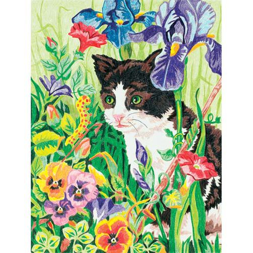 Kitty in Flowers, Pencil by Number_91318