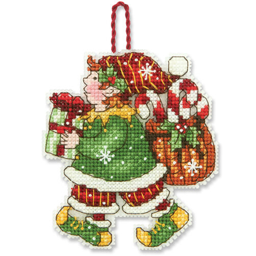 Elf Ornament, Counted Cross Stitch_70-08913