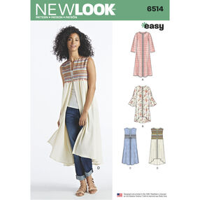 New Look Pattern 6514 Misses' Coat or Vest with Sleeve and Length Variations