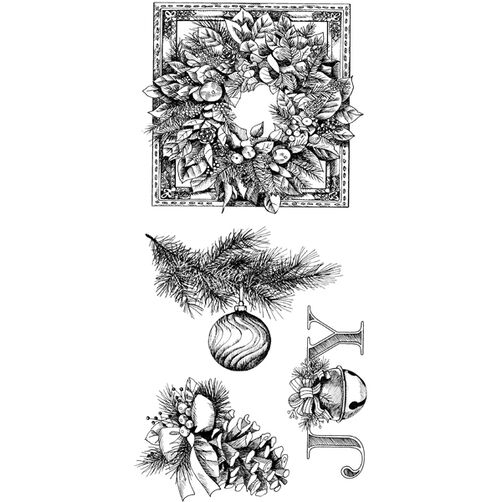 Evergreen Holiday Clear Stamps_60-31153