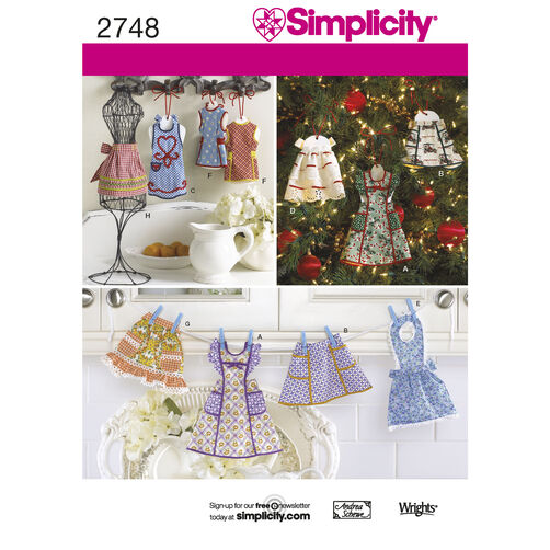 Simplicity Pattern 2748 Crafts: Apron Ornaments