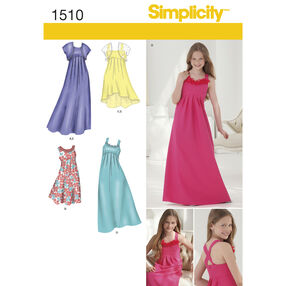 Simplicity Pattern 1510 Girls '& Girls' Plus Special Occasion Dress
