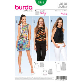 Burda Style Pattern B6541 Misses' Top and Dress