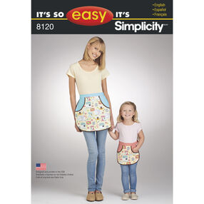 It's So Easy Pattern 8120 Mother Daughter Aprons