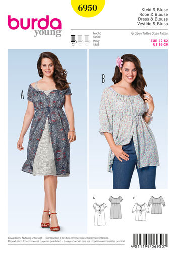 Burda Style Pattern 6950 Plus to size 60