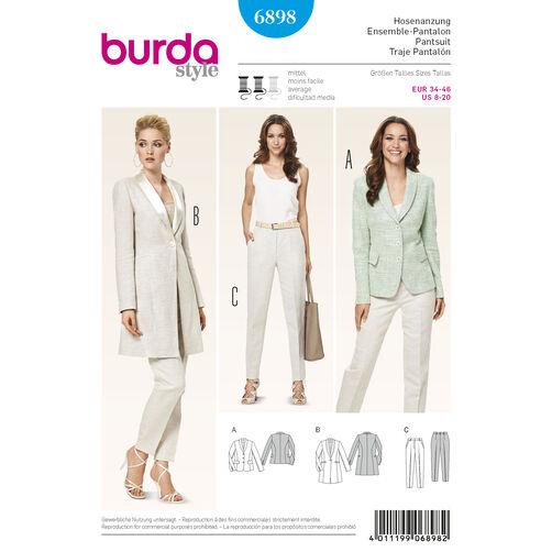 Burda Style Pattern 6898 Coordinates, Pantsuits, Suits
