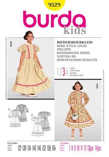 Burda Style Pattern 9529 Biedermeier Dress