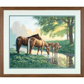 Horses by a Stream, Paint by Number_91159