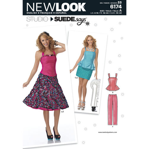 New Look Pattern 6174 Misses' Special Occasion Separates