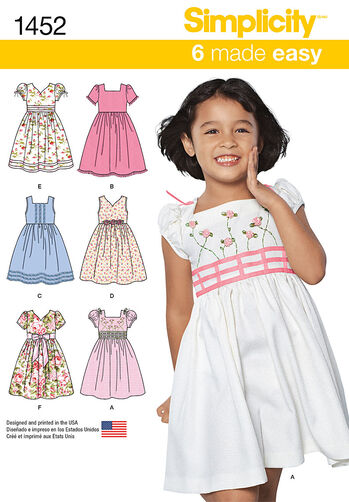 Child's Dress with Bodice and Sleeve Variations