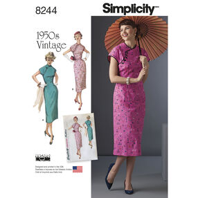Simplicity Pattern 8244 Misses' 1950s Dress