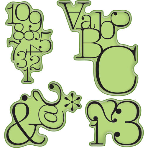 Typographic Cling Stamps_65-32008