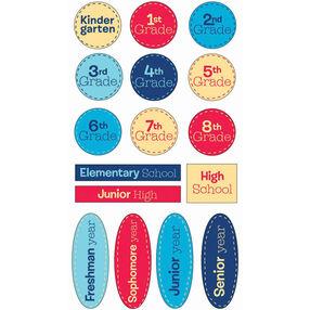 School Grades Epoxy Stickers_SPEWP21