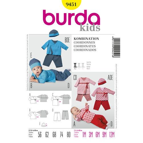 Burda Style Pattern 9451 Coordinates