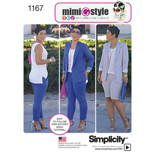 Simplicity Pattern 1167 Misses' Sportswear from Mimi G Style