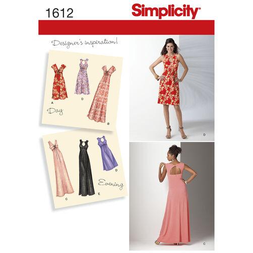 Simplicity Pattern 1612 Misses' & Plus Size Knit Dress