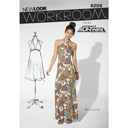 New Look Pattern 6206 Misses' Knit Dress in Two Lengths