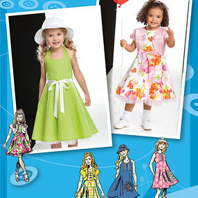 Simplicity Pattern 2237 Child's & Toddlers' Dresses. Project Runway Collection