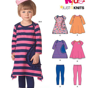 Toddlers' Knit Dresses and Leggings