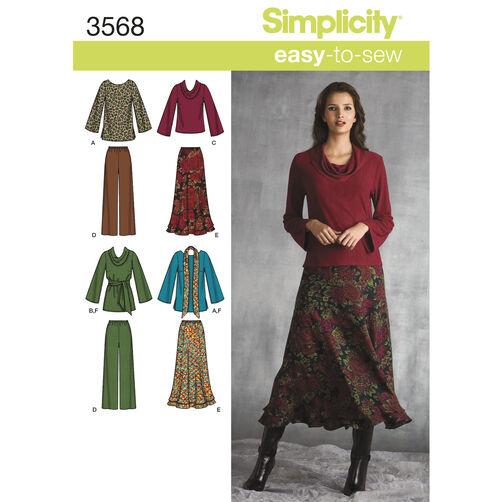 Simplicity Pattern 3568 Misses' & Plus Size Sportswear