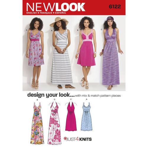 New Look Pattern 6122 Misses' Dress