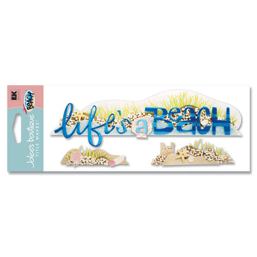 A Day at the Beach Life's A Beach Title Sticker_SPJT32