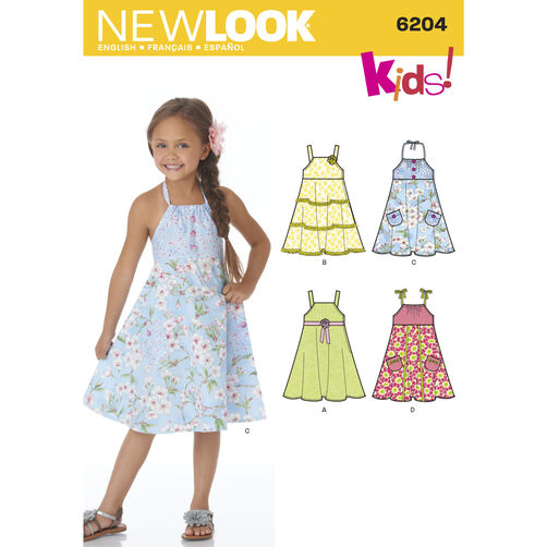 New Look Pattern 6204 Child's Dress