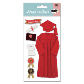 Cap and Gown Stickers Red_SPJBLG105