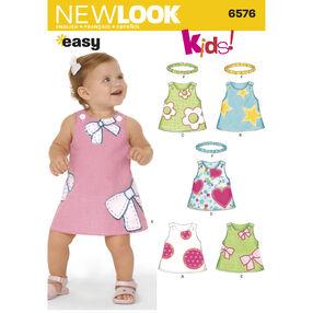 New Look Pattern 6576 Babies' Dresses