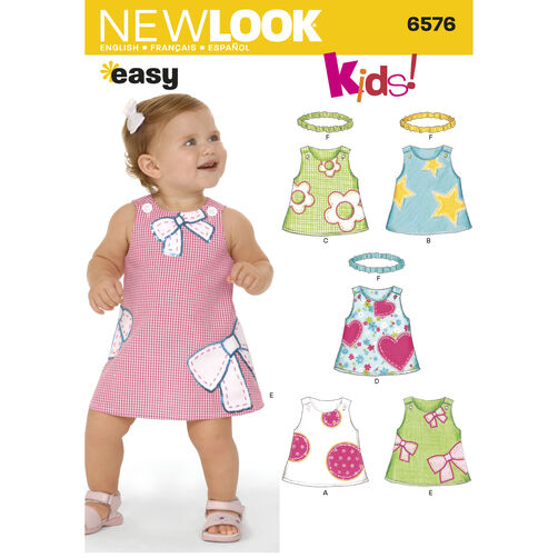 New Look Pattern 6576 Babies Dresses