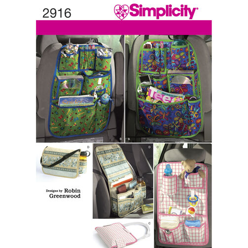 Simplicity Pattern 2916 Car Organizers
