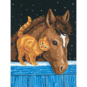 Pony and Kitten, Paint by Number_91305