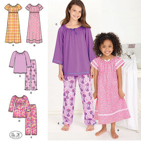 Learn to Sew Child's and Girl's Loungewear
