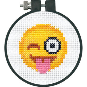 Tongue Out Emoji, Counted Cross Stitch_72-75070