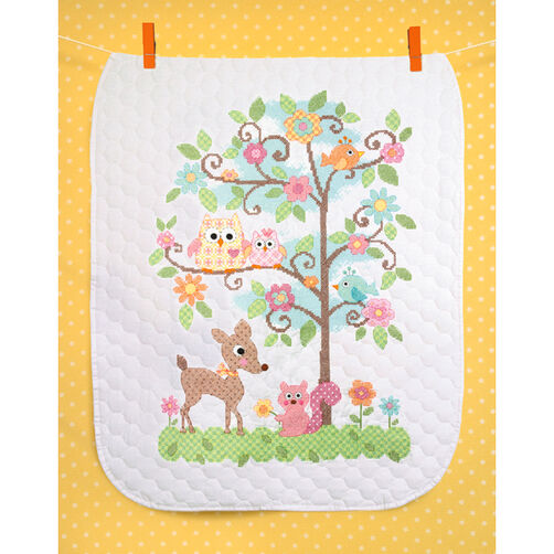 Happi Tree Quilt, Stamped Cross Stitch_70-73732