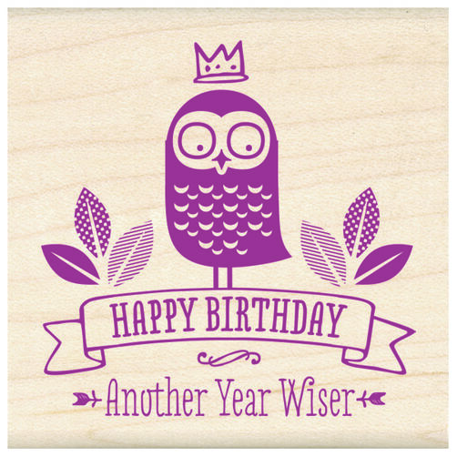 Another Year Wiser Wood Stamp_60-01066