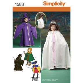 Simplicity Pattern 1583 Child's Caped Costume