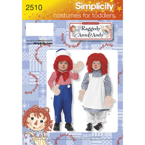 Simplicity Pattern 2510 Child & Toddler Costumes