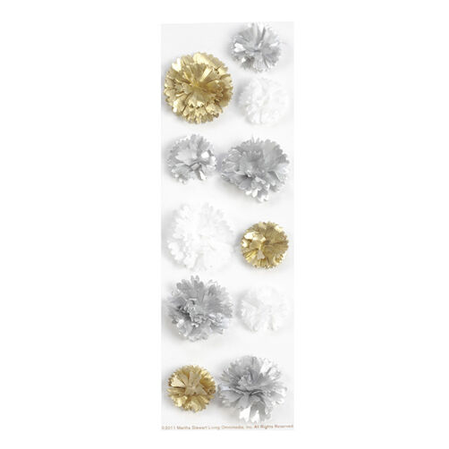 Silver And Gold Pom Pom Stickers_41-00240