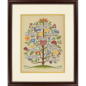 Vintage Family Tree Counted Cross Stitch Kit_70-73817