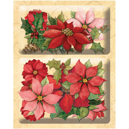 Susan Winget Glad Tidings Poinsettia & Holly Layered Accents_30-595507