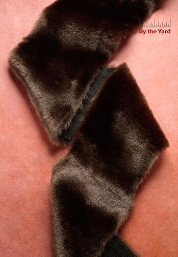 """4"""" Brown Faux Fur"""